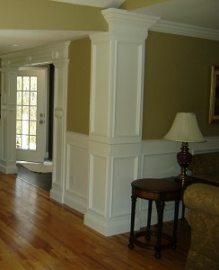 Artistic Contracting - Architectural Millwork - Wainscoting, Custom Columns, and Custom Crown Molding