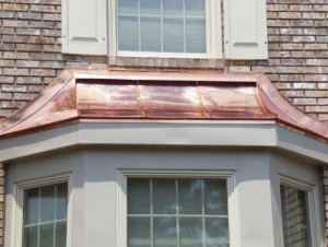 Curved Metal Roof Over Bay Window